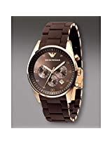 Emporio Armani AR5891 Womens Brown Silicon Chronograph Watch