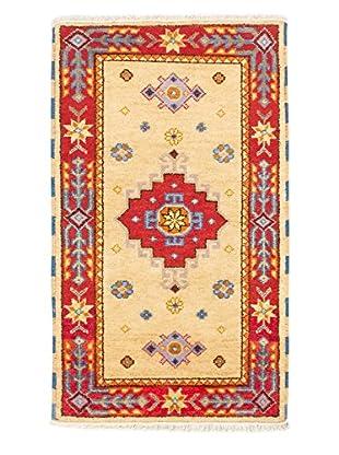 Hand-Knotted Royal Kazak Rug, Light Red, Light Yellow, 3' x 5' 1
