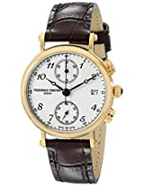 "Frederique Constant Women's FC291A2R5 ""Classics"" Gold-Tone Stainless Steel Watch with Brown Leather Band"