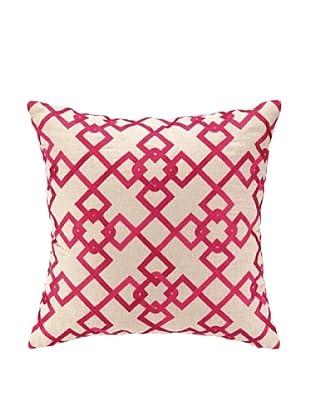 Peking Handicraft Chain Link Pillow, Pink