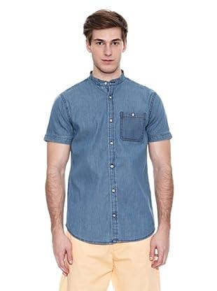Springfield Camisa Verano B Denim Mao Pocket