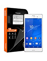Sony Xperia Z3 Screen Protector, Spigen® [Most Durable] Sony Xperia Z3 Screen Protector Glass **NEW** [Glass] [GLAS.tR SLIM] Rounded Edge with Chip Resistant - Most Durable Glass Screen Protector for Sony Xperia Z3 (2014) - GLAS.tR SLIM (SGP11250)