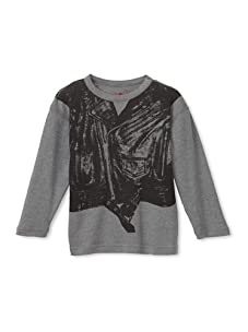 Soft Clothing for Kid's Boy's Motorcycle Vest Knit Tee (Heather Grey)
