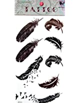 GGSELL GGSELL KING HORSE hot selling New design birds and feathers temporary tattoo stckers