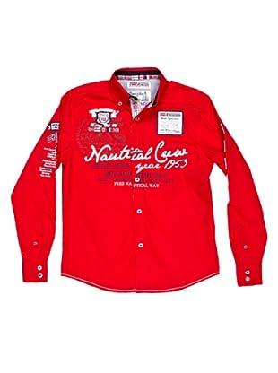 Geographical Norway Camisa Manga Larga Zautical (Rojo)