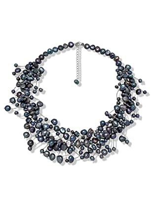 Valero Pearls 120314 - Collar de mujer de plata con perla cultivada de agua dulce, 45 cm