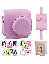CAIUL 7 in 1 Fujifilm Instax Mini 8 Camera Accessories Bundle(Included: Pink Instax Mini 8 Case/ Photo Case/ Photo Album/ 3 L Model Frame/ Film Stickers/ Close-Up Selfie Lens/ 3 Inch Film Frame)