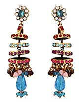 Beautiful earrings with colourful stones