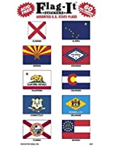 Us States, Territories Flag Stickers For Home Or School