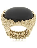 Bansri Enamel Ring for Women (Black) (R0009 BLK - J77)