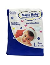 Magic Baby Disposable Baby Diapers- Large (5/Pack)