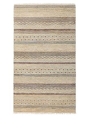 Darya Rugs Modern Oriental Rug, Light Brown, 3' 1