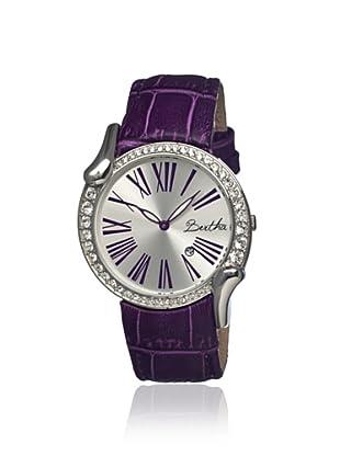 Bertha Women's BR2503 Olive Purple/Silver Leather Watch