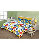 Birla Century Mystica Cotton Double Bedsheet with 2 Pillow Covers - Multicolor