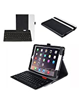 Apple iPad Air 2 Keyboard Case - ProCase Premium Muti-angle Stand Smart Cover with Ultra Slim Magnetically Detachable Bluetooth Keyboard (4mm) for iPad Air 2 (Air2, iPad Air 2nd Gen, iPad 6th Gen), bonus procase Stylus Pen included (Black/White)