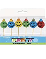 6 FACE PICK BIRTHDAY CANDLES