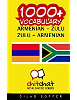 1000+ Armenian - Zulu, Zulu - Armenian Vocabulary