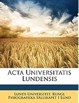 ACTA Universitatis Lundensis