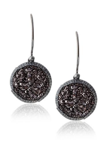 Himatsingka Sparkler Antique Sterling Silver Swing Hook Earrings