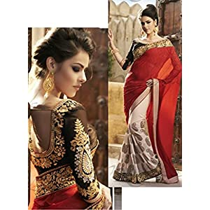 Talreja Sarees Bollywood Replica Lehenga - Red & Black