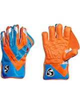 SG Super Club Wicket Keeping Gloves, Men's (Orange/Blue)