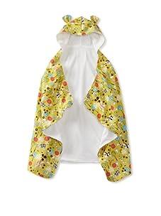 My Blankee Baby Hooded Towel with Ears (Giraffe Garden Citron)