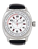 3071Sl01 Black / White Analog Watch Fastrack