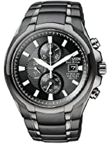 Citizen Eco-Drive Titanium Chronograph Mens Watch Ca0265-59E