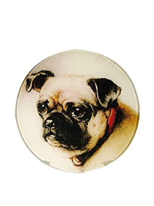 Twigs and Moss Cute Little Pug Face Glass Tray