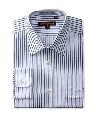 Hickey Freeman Men's Stripe Dress Shirt (Blue)