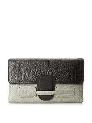 Stella & Jamie  Women's Zurra Clutch, Black/Cobra Grey