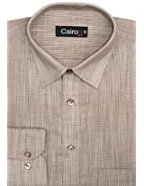 CAIRON BEIGE CHAMBRAY EXECUTIVE FORMAL SHIRT SF-E6028_B_1
