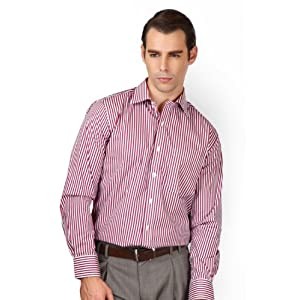 Peter England Formal Striped Shirt