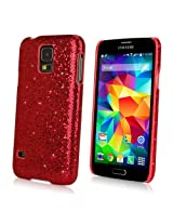 Galaxy S5 Case, BoxWave® [Glamour & Glitz Case] Slim, Snap-On Glitter Cover for Samsung Galaxy S5 - Ruby