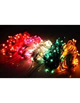 Laxmi Diwali Lights Pack of 15 Rice Lights, 15 Feet Long, 25 Bulbs - Red x3, Blue x3, Pink x3, Yellow x3, Green x3,