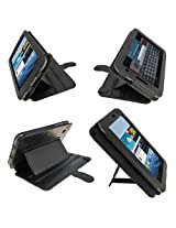 igadgitz Black 'Guardian Triview' Genuine Leather Case Cover for Samsung Galaxy Tab 2 7.0 P3100 P3110 3G & WiFi Android 4.0 Internet Tablet