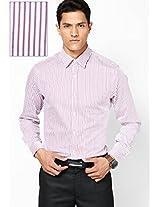 Pink Striped Slim Fit Formal Shirt