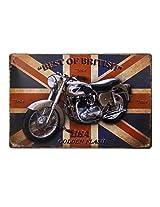 Imported 20x30cm Vintage Metal Tin Sign Plaque Wall Art Poster Cafe Bar Pub Motor #2