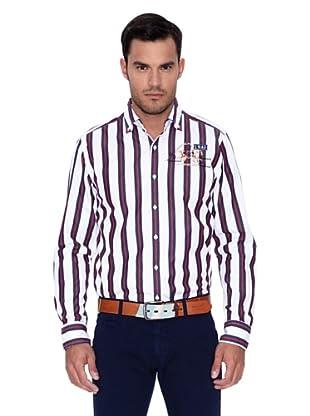 La Martina Camisa Sebastián (Azul / Rojo / Blanco)