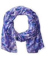 La Fiorentina Women's Ikat Rose Printed Scarf, Blue, One Size