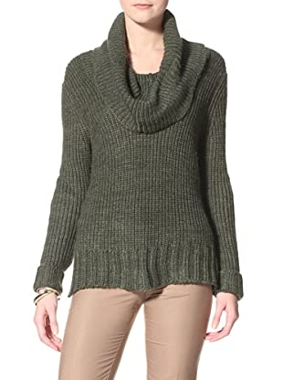 Acrobat Women's Ribbed Cowlneck Sweater (Loden)