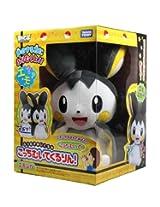 Pokemon Best Wishes Turning Talking Plush Takaratomy - Emonga / Emolga