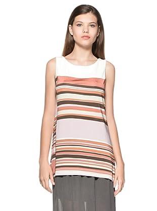 Eccentrica Camiseta Maisie (Blanco/Coral)
