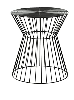 Safavieh Home Collection Payton Steelworks Iron Wires Stool, Black