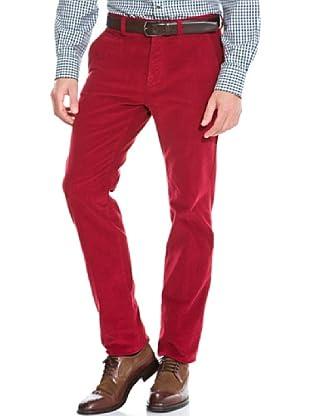 Cortefiel Pantalón Pana regular (Rojo)