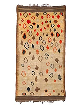 nuLOOM One-of-a-Kind Hand-Knotted Vintage Moroccan Berber Rug, Champagne, 4' 5