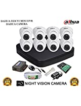 DAHUA HDCVI 8CH DH-HCVR4108C-S2 DVR + DAHUA HDCVI DH-HAC-HDW1000RP DOME CAMERA 8Pcs + 1 TB WD HDD+ 3+1 COPPER CABLE + POWER SUPPLY (FULL COMBO)