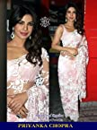 Priyanka Chopra Net Embroidered Pink Bollywood Style Saree