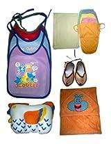 Childhood bib,sheet,nappy,pillow,juti,towel