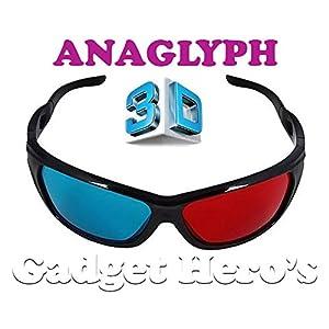 Gadget Hero's 3D Plastic Ana-Glyph Glasses
